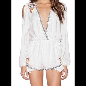 Lovers & Friends Adriana Embroded Romper Size S